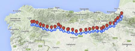 Clicca sulla mappa per vedere dove sono oggi! Mancano solo 111 km!!!!