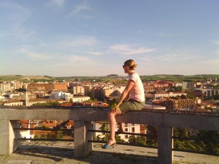 Godendo del panorama a Burgos