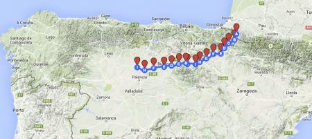 Oggi sono a Carrion de los Contes, mancano 405 km a Santiago