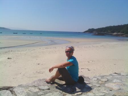 Una pausa lungo il cammino per arrivare a Finisterre