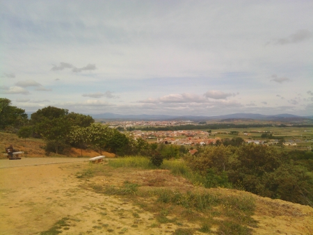 Astorga dall'alto, mancano 5 km