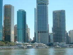 Fiume Brisbane's river, eagle St Pier - Australia