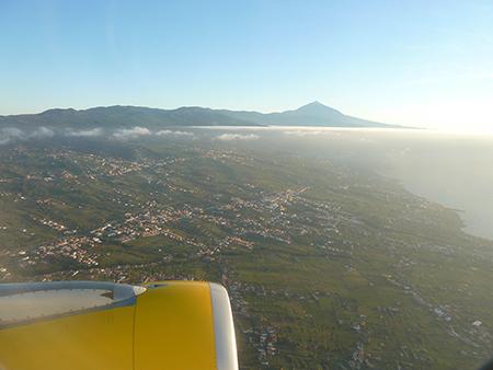In volo,lasciando Tenerife