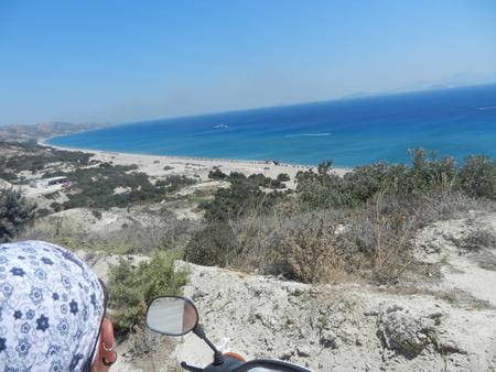 In motorino a Kos, Grecia