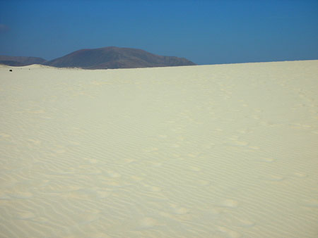 Dune di sabbia vicino a Corralejo, Fuerteventura