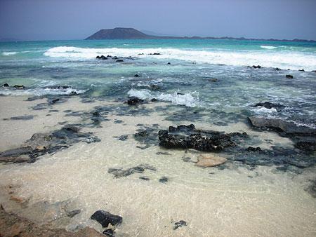 Flag beach, spiaggia a sud di Corralejo, Fuerteventura