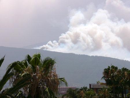 Incendio a Tenerife