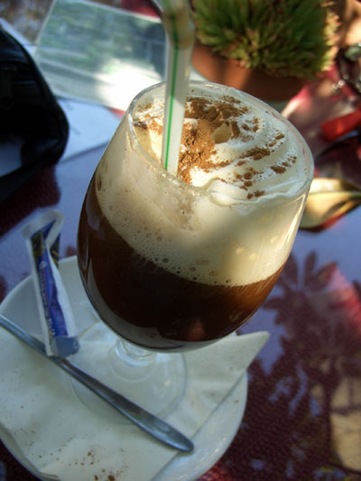 Irish coffee in Puerto de la Cruz