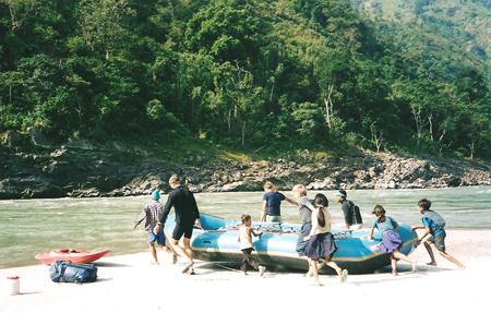 Rafting fiume Tamur, Nepal