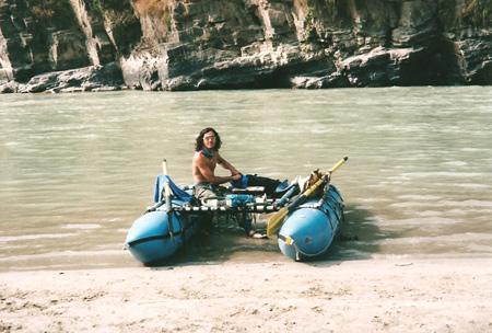 Christian e il suo Kataraft, Nepal