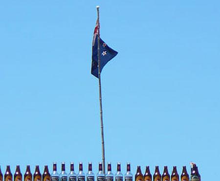 Alcol con la bandiera neozelandese
