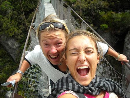 Io e Elena al Mt Cook