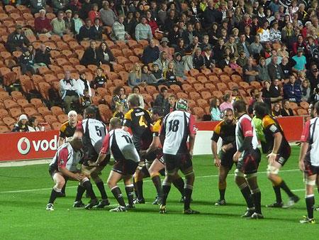 Partita Rugby in Hamilton, Nuova Zelanda. Chiefs v Lions