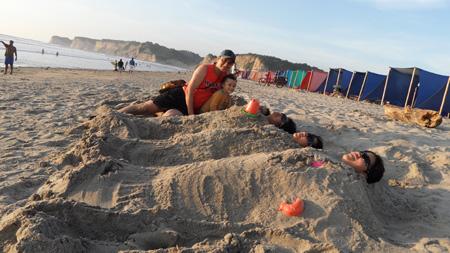 La gente in spiaggia, Ecuador