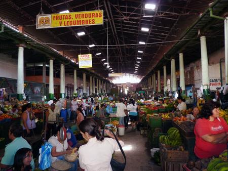 Mercato di frutta in San Gil