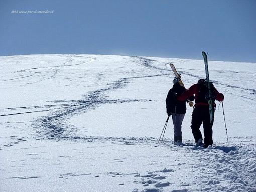 Cammin ando sulla neve