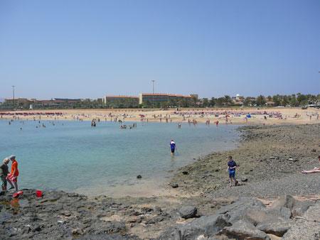 Playa del Castillo in Fueste, Fuerteventura