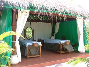 Lettini per massaggio alle Maldive