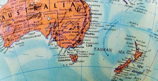 Cartina Nuova Zelanda