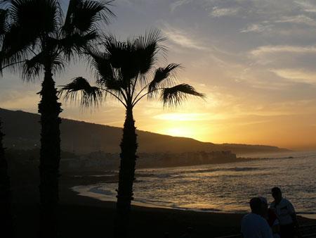 Tramonto playa Jardin, Puerto de la Cruz - Tenerife