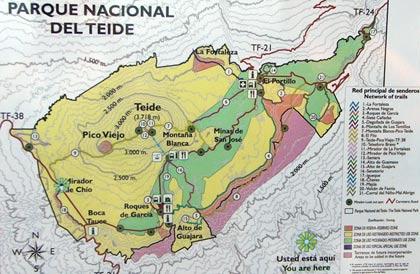 Tenerife Cartina Spagna.Parco Nazionale Del Teide Il Vulcano Teide A Tenerife Fa Parte Del Parco Naturale Il Pico Del Teide